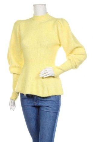 Pulover de femei H&M, Mărime S, Culoare Galben, 32% poliester, 30% lână de alpaca, 20% lână, 14% poliamidă, 4% elastan, Preț 126,00 Lei