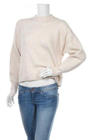 Damski sweter H&M, Rozmiar XS, Kolor Beżowy, 52% poliester, 41%akryl, 4% wełna, 3% elastyna, Cena 81,00zł