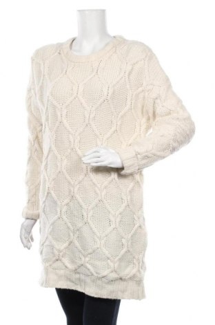 Дамски пуловер H&M L.O.G.G., Размер L, Цвят Екрю, 55% вълна, 30% вискоза, 15% полиамид, Цена 25,20лв.
