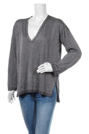 Damski sweter Oviesse, Rozmiar XL, Kolor Szary, 40% wiskoza, 36%akryl, 16% poliester, 8% metalowe nici, Cena 57,00zł