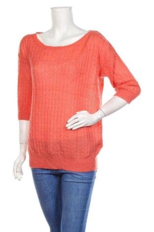 Дамски пуловер United Colors Of Benetton, Размер M, Цвят Оранжев, 40% акрил, 30% мохер, 30% полиамид, Цена 32,55лв.