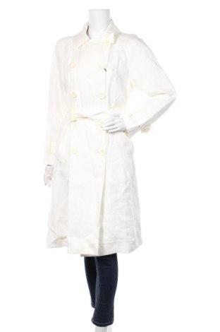 Γυναικεία καμπαρντίνα Massimo Dutti, Μέγεθος S, Χρώμα Εκρού, Λινό, Τιμή 87,68€