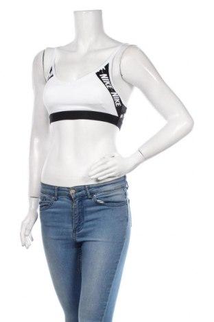 Damski sportowy top Nike, Rozmiar S, Kolor Biały, 88% poliester, 12% elastyna, Cena 88,50zł
