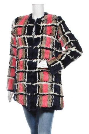 Дамско кожено палто Manoush, Размер M, Цвят Многоцветен, Естествен косъм, Цена 465,87лв.