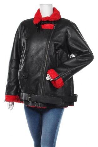 Дамско кожено яке Ajc, Размер XL, Цвят Черен, Еко кожа, Цена 88,40лв.