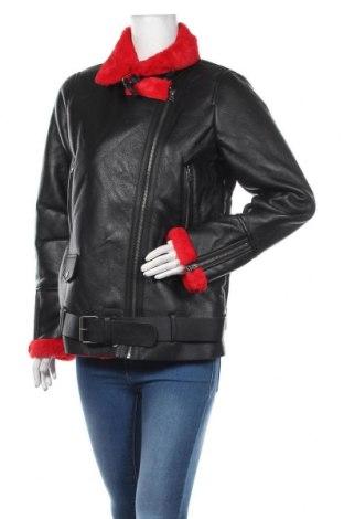 Дамско кожено яке Ajc, Размер M, Цвят Черен, Еко кожа, Цена 90,35лв.