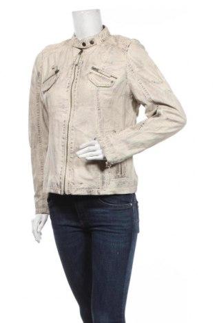 Дамско кожено яке Ajc, Размер L, Цвят Сив, Естествена кожа, Цена 86,10лв.