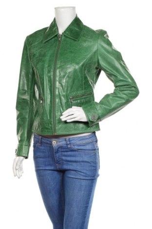 Damska kurtka skórzana Arma, Rozmiar M, Kolor Zielony, Skóra naturalna, Cena 523,20zł