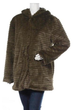 Дамско палто Aniston, Размер L, Цвят Зелен, Полиестер, Цена 77,35лв.