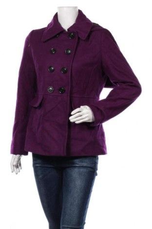 Дамско палто Apostrophe, Размер M, Цвят Лилав, 60% вълна, 25% полиестер, 15% вискоза, Цена 60,90лв.