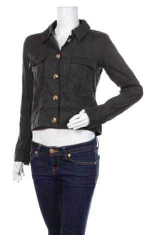 Γυναικείο μπουφάν Someday., Μέγεθος S, Χρώμα Γκρί, Λινό, Τιμή 27,28€