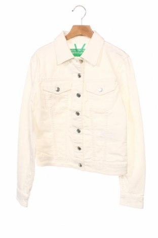 Kurtka damska United Colors Of Benetton, Rozmiar XS, Kolor Biały, 98% bawełna, 2% elastyna, Cena 131,18zł