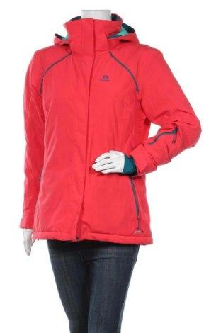 Дамско яке за зимни спортове Salomon, Размер L, Цвят Червен, Полиестер, Цена 374,25лв.