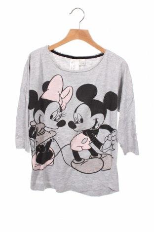 Dziecięca bluzka H&M, Rozmiar 12-13y/ 158-164 cm, Kolor Szary, 95% bawełna, 5% wiskoza, Cena 50,40zł