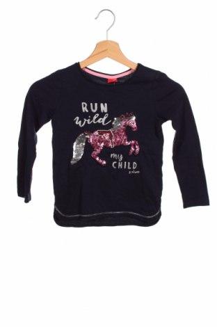 Dziecięca bluzka S.Oliver, Rozmiar 5-6y/ 116-122 cm, Kolor Niebieski, Bawełna, Cena 72,00zł