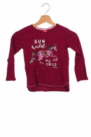 Dziecięca bluzka S.Oliver, Rozmiar 5-6y/ 116-122 cm, Kolor Fioletowy, Bawełna, Cena 72,00zł