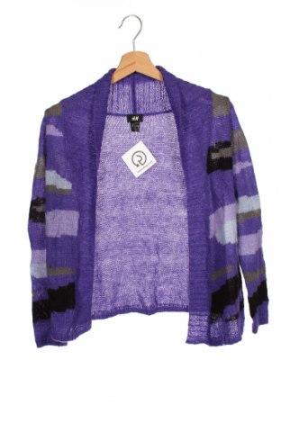 Pulover cu nasturi pentru copii H&M, Mărime 8-9y/ 134-140 cm, Culoare Mov, 85%acril, 15% mohair, Preț 76,26 Lei