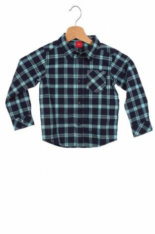 Dziecięca koszula S.Oliver, Rozmiar 18-24m/ 86-98 cm, Kolor Niebieski, 98% bawełna, 2% elastyna, Cena 84,00zł