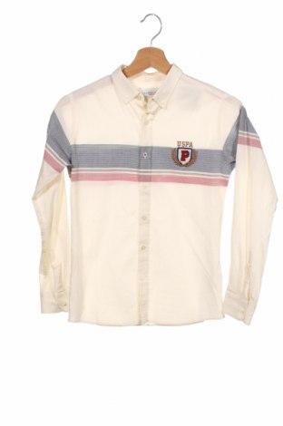 Dziecięca koszula U.S. Polo Assn., Rozmiar 9-10y/ 140-146 cm, Kolor ecru, Bawełna, Cena 83,25zł