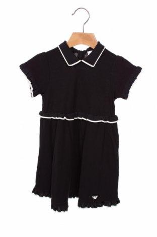 Rochie pentru copii Emporio Armani, Mărime 18-24m/ 86-98 cm, Culoare Albastru, 96% viscoză, 4% elastan, Preț 233,49 Lei