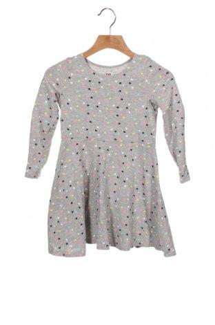 Dziecięca sukienka H&M, Rozmiar 2-3y/ 98-104 cm, Kolor Szary, 90% bawełna, 5% elastyna, 5% wiskoza, Cena 62,40zł