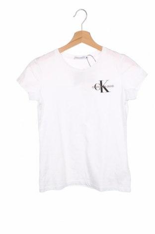 Dětské tričko  Calvin Klein Jeans, Velikost 13-14y/ 164-168 cm, Barva Bílá, Bavlna, Cena  556,00Kč