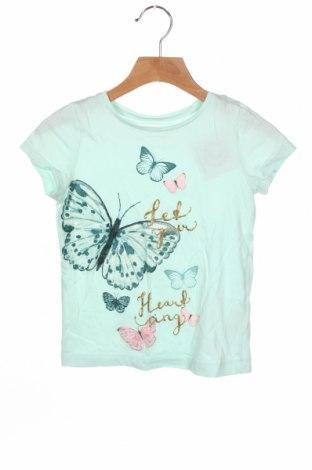 Dziecięcy T-shirt H&M, Rozmiar 5-6y/ 116-122 cm, Kolor Zielony, Bawełna, Cena 43,20zł