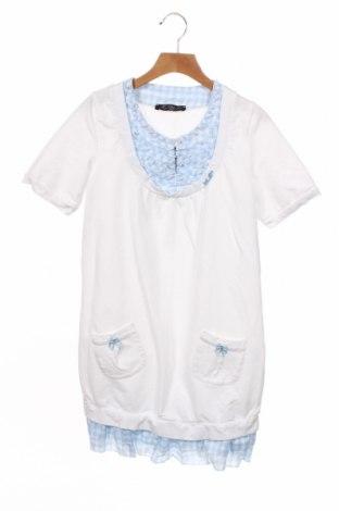 Tunică pentru copii Miss Blumarine, Mărime 11-12y/ 152-158 cm, Culoare Alb, Bumbac, mătase, elastan, Preț 226,97 Lei