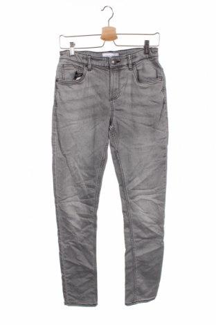 Dziecięce jeansy C&A, Rozmiar 14-15y/ 168-170 cm, Kolor Szary, 80% bawełna, 19% poliester, 1% elastyna, Cena 66,00zł