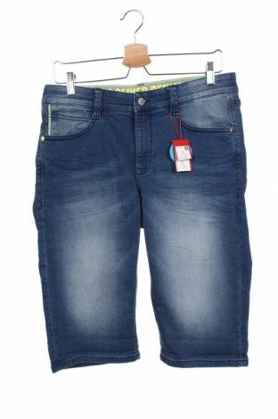 Dětské krátké kalhoty  S.Oliver, Velikost 14-15y/ 168-170 cm, Barva Modrá, 85% bavlna, 14% polyester, 1% elastan, Cena  400,00Kč