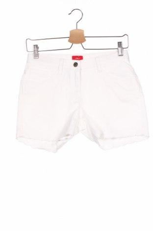 Dětské krátké kalhoty  S.Oliver, Velikost 14-15y/ 168-170 cm, Barva Bílá, 97% bavlna, 3% elastan, Cena  434,00Kč