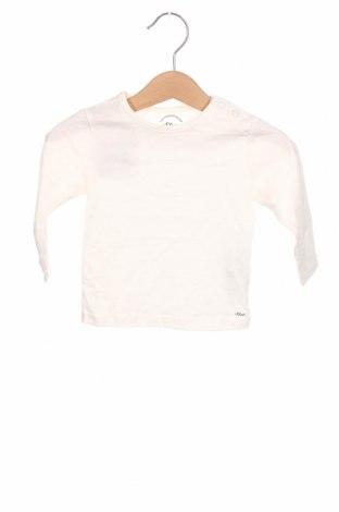 Dziecięca bluzka S.Oliver, Rozmiar 6-9m/ 68-74 cm, Kolor Biały, Bawełna, Cena 72,00zł