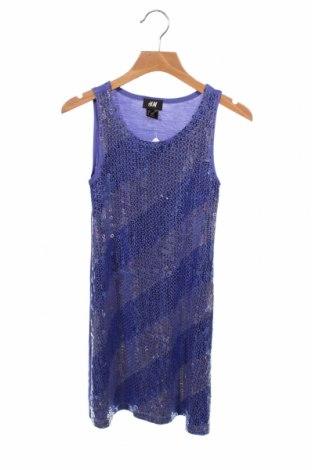 Podkoszulek dziecięcy H&M, Rozmiar 8-9y/ 134-140 cm, Kolor Fioletowy, 95% wiskoza, 5% elastyna, Cena 47,25zł
