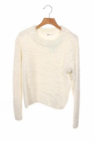 Dziecięcy sweter H&M, Rozmiar 10-11y/ 146-152 cm, Kolor Biały, Poliamid, Cena 54,00zł