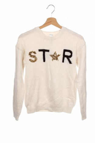 Детски пуловер Here+There, Размер 10-11y/ 146-152 см, Цвят Бежов, 87% акрил, 9% полиестер, 4% полиамид, Цена 23,10лв.
