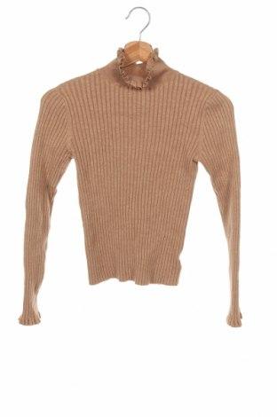 Dziecięcy sweter Next, Rozmiar 9-10y/ 140-146 cm, Kolor Beżowy, 45% wełna merynosowa, 35% wiskoza, 17% poliamid, 3% elastyna, Cena 66,00zł