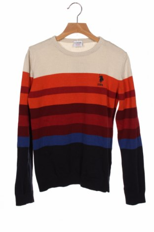 Dziecięcy sweter U.S. Polo Assn., Rozmiar 9-10y/ 140-146 cm, Kolor Kolorowy, Bawełna, Cena 81,00zł
