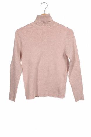 Dziecięcy sweter Zara Kids, Rozmiar 13-14y/ 164-168 cm, Kolor Popielaty róż, 39% wiskoza, 38% poliester, 16% poliamid, 8% metalowe nici, Cena 63,00zł