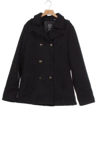 Детско палто Here+There, Размер 14-15y/ 168-170 см, Цвят Черен, 93% полиестер, 6% вискоза, 1% еластан, Цена 34,91лв.