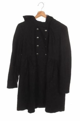 Palton pentru copii Vertbaudet, Mărime 11-12y/ 152-158 cm, Culoare Negru, 55% lână, 45% viscoză, Preț 129,32 Lei