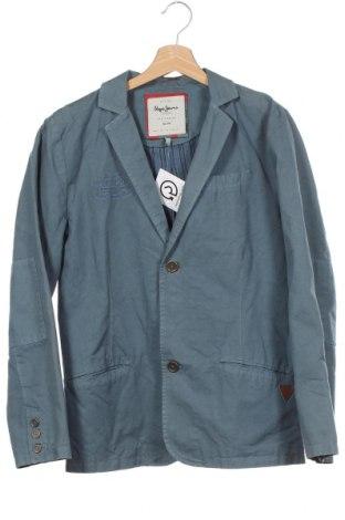Sacou pentru copii Pepe Jeans, Mărime 15-18y/ 170-176 cm, Culoare Albastru, Bumbac, Preț 24,83 Lei