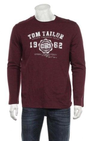 Pánské tričko  Tom Tailor, Velikost M, Barva Červená, 92% bavlna, 8% polyester, Cena  556,00Kč