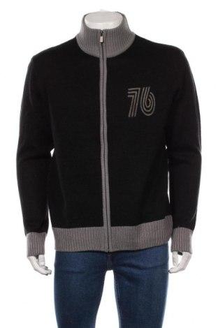 Jachetă tricotată de bărbați Identic, Mărime XL, Culoare Negru, Poliacrilic, Preț 106,11 Lei