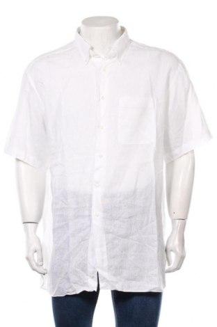 Męska koszula Ermenegildo Zegna, Rozmiar XXL, Kolor Biały, 100% len, Cena 388,80zł