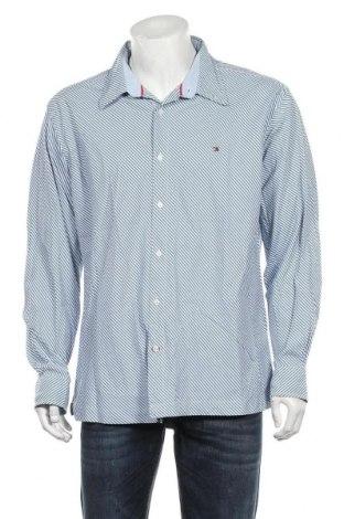 Męska koszula Tommy Hilfiger, Rozmiar XL, Kolor Niebieski, Bawełna, Cena 115,20zł
