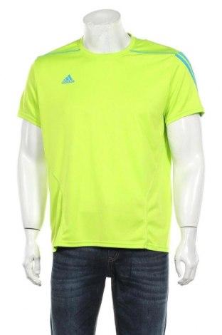 Мъжка тениска Adidas, Размер L, Цвят Зелен, Цена 24,75лв.