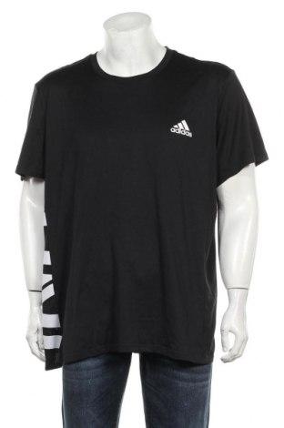 Мъжка тениска Adidas, Размер XXL, Цвят Черен, Полиестер, Цена 25,90лв.