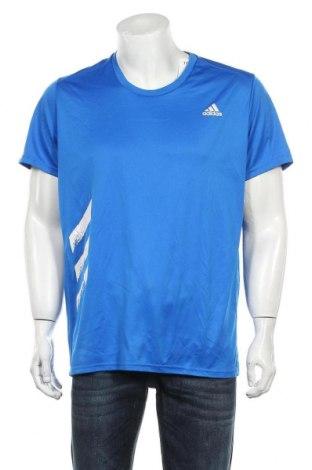 Мъжка тениска Adidas, Размер XL, Цвят Син, Цена 23,25лв.
