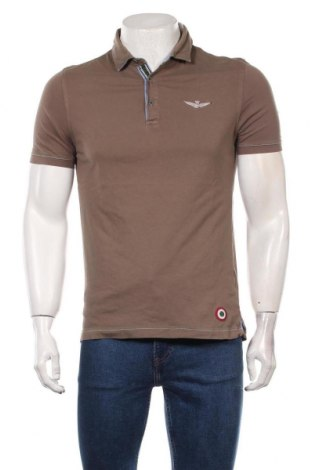 Мъжка тениска Aeronautica Militare, Размер L, Цвят Кафяв, Цена 29,40лв.
