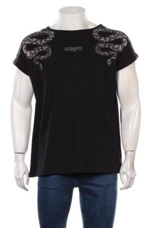 Мъжка тениска AllSaints, Размер L, Цвят Черен, Памук, Цена 46,80лв.